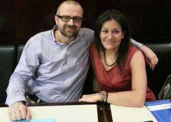 Alicia Gracia y Juan Royo