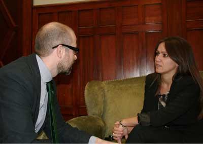 Jana Catalán y Juan Royo