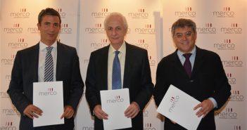 n la imagen, de izquierda a derecha, Javier Valiente (Socio-Director de Political Intelligence), José Mª San Segundo (CEO de Merco) y Manuel Sevillano (Director General de Merco).